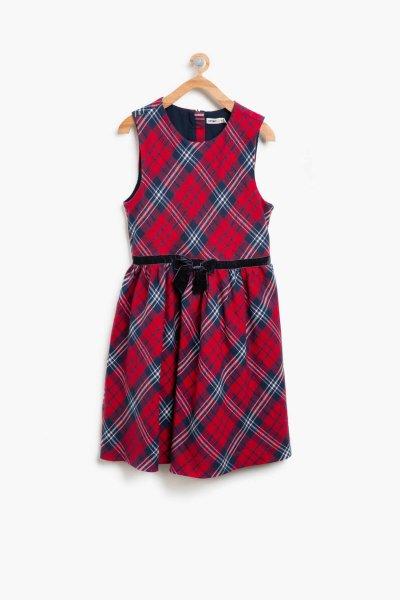 Koton Kırmızı Ekoseli Elbise 8kkg87907ow