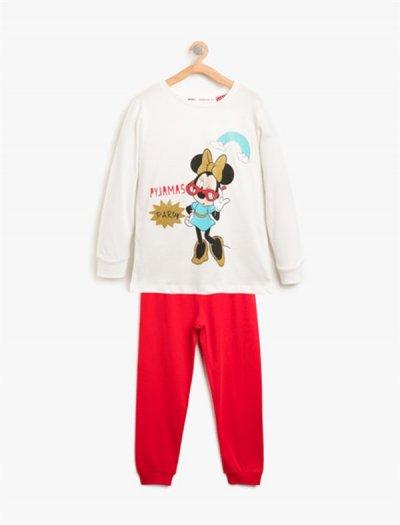 8kkg21145ak Koton Çocuk Pijama Set Kırmızı
