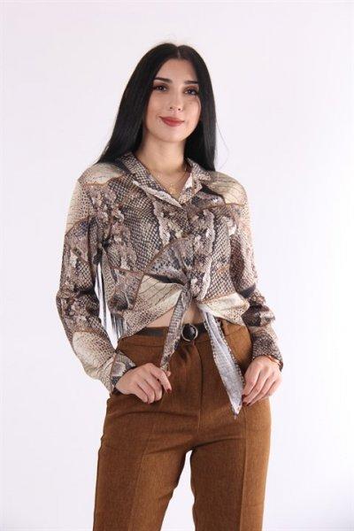 Yılan Desenli Gömlek 10819