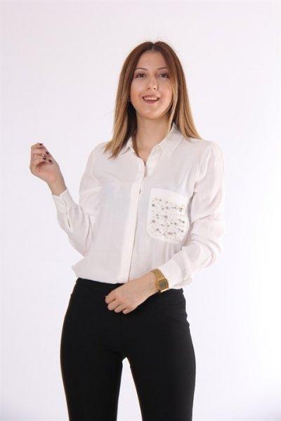 Koton İnci İşlemeli Gömlek 9kak63879ew