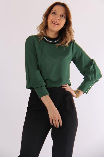 9kak63208ew Koton Yeşil Bluz