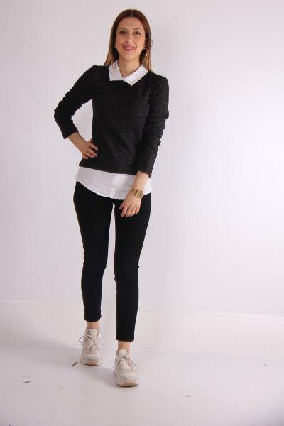 Gömlek Yaka Bluz 20894