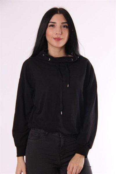 Yaka Ve Etek Ucu Detaylı Sweatshirt 5638