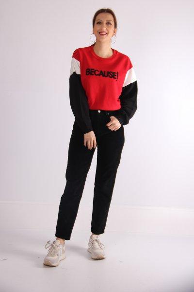 Yazılı Sweatshirt 23160