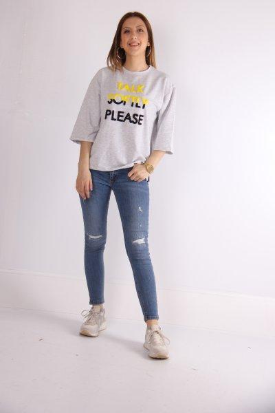 Baskılı Sweatshirt 23040