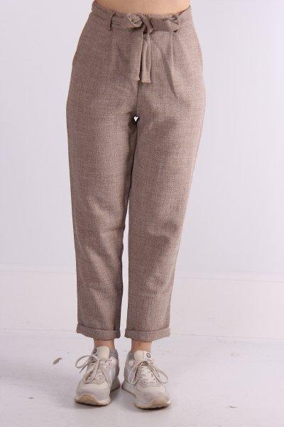 Bol Kesim Kemer Detaylı Pantolon 23081