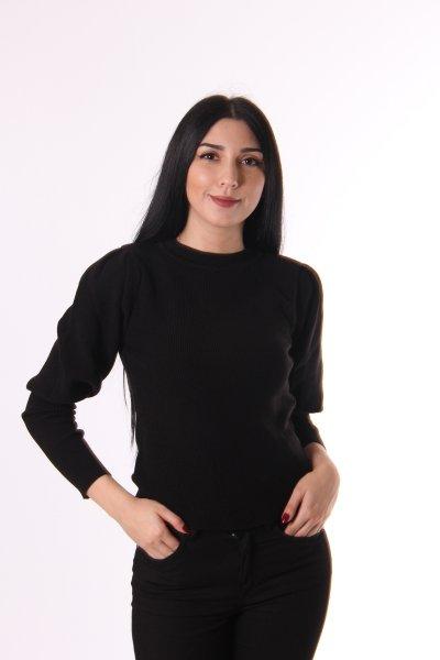 Dilvin Bisiklet Yaka Balon Kol Kazak 2325