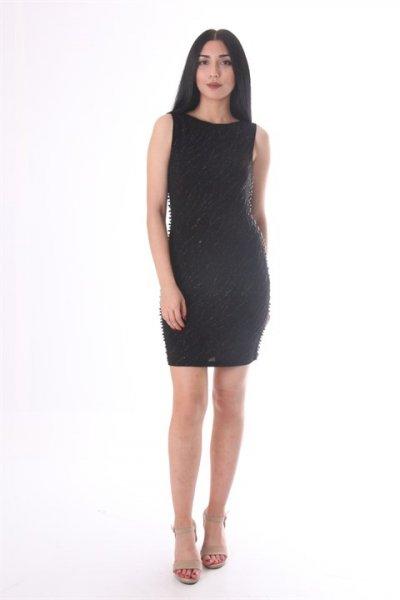 Koton Siyah Desenli Elbise 9kak84267fk