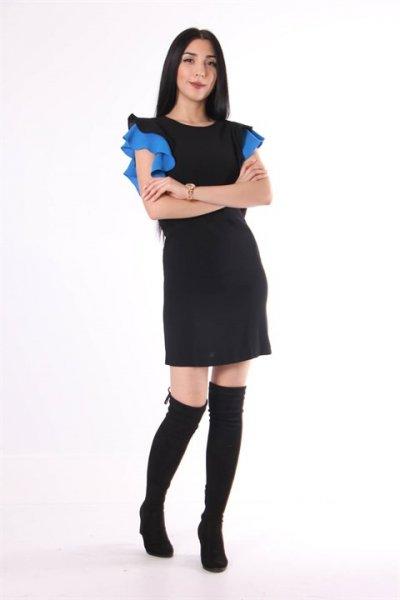 Koton Fırfır Detaylı Elbise 9kak88917pw