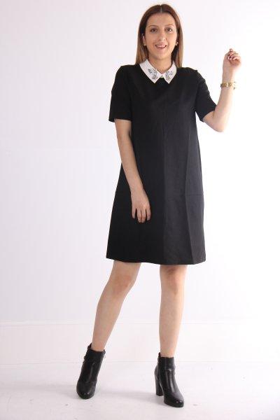9kak83567ek Koton Siyah Elbise