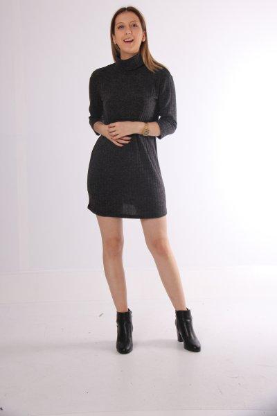 Koton Boğazlı Elbise 9kak94158qk