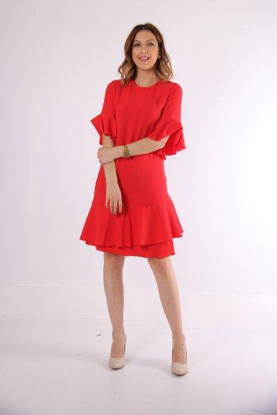 9kak83199ew Koton Kırmızı Elbise