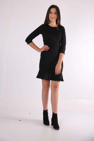 9kak86156ık Koton Siyah Elbise