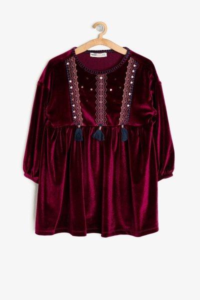 Koton Kadife Elbise 9kkg87920ak