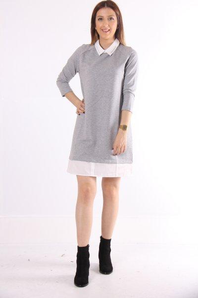 Gömlek Yaka Elbise 21924