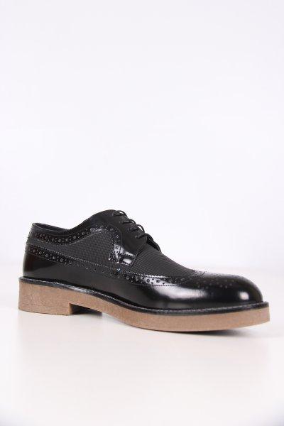 C1646 Cacharel Siyah Açma Kare Baskı Ayakkabı