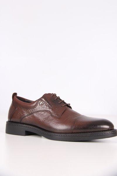 C1675 Cacharel Kauçuk Kahve Antik Baskı Ayakkabı