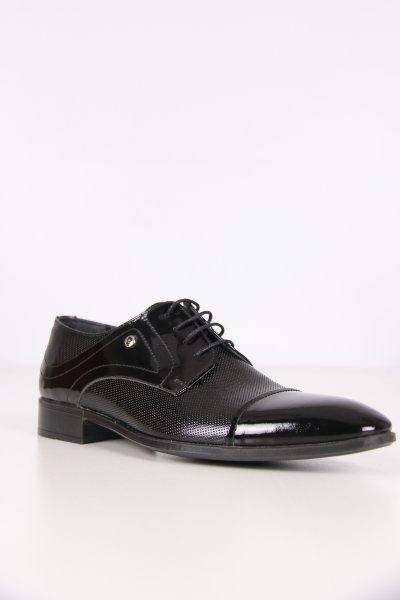 P63157 Pıerre Cardın Siyah Rugan Ayakkabı