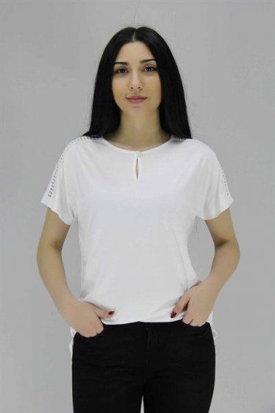 20700 Ontriko Omuzları File Detaylı Bluz