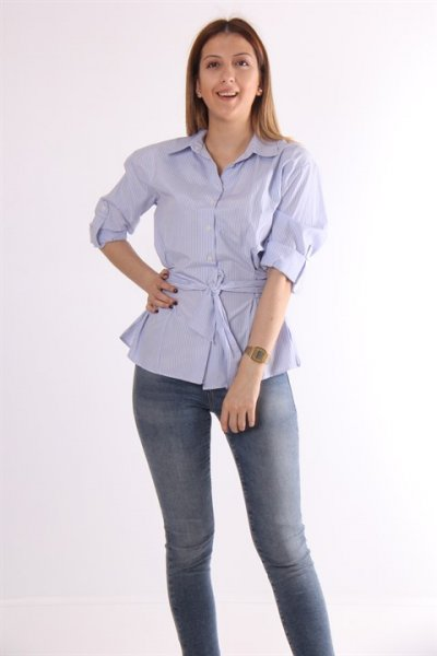 Ayhan Bel Bağlamalı Gömlek 50207