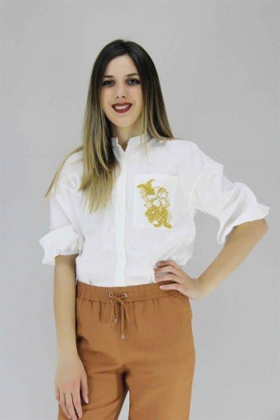 8yak68208pw Koton Beyaz Gömlek