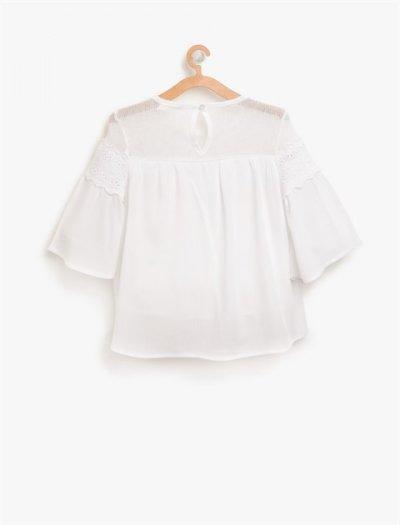 8ykg67658ow Koton Bluz Beyaz
