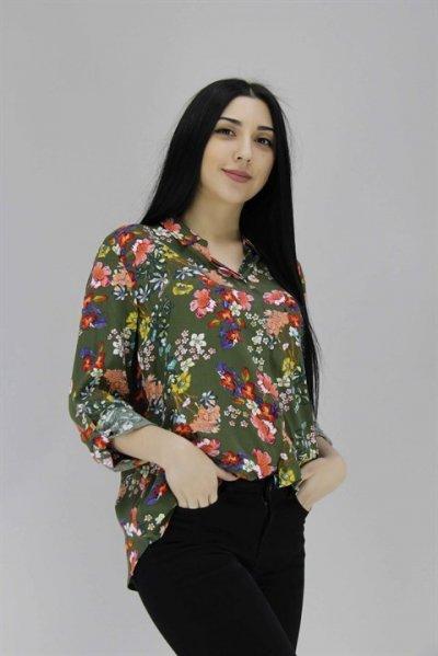 1327 Fashıon Frıends Desenli Gömlek