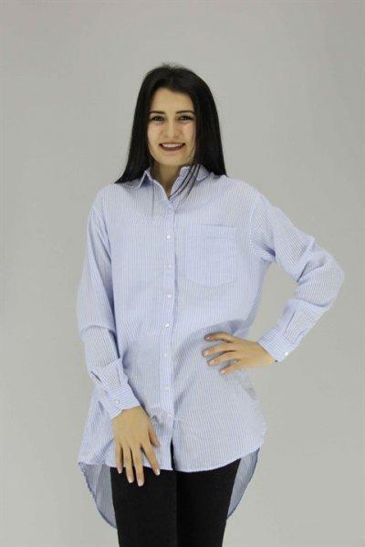 0350 Fashıon Frıends Çizgili Gömlek
