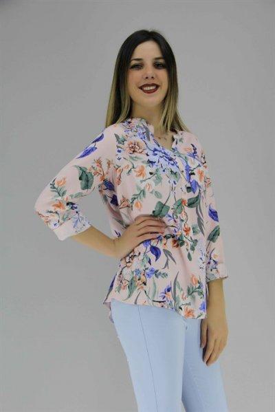 1331 Fashıon Frıends Desenli Bluz