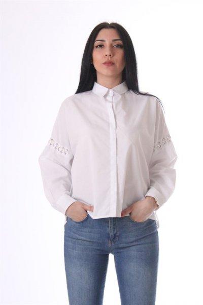 Kol Bağcık Detaylı Gömlek - 22262