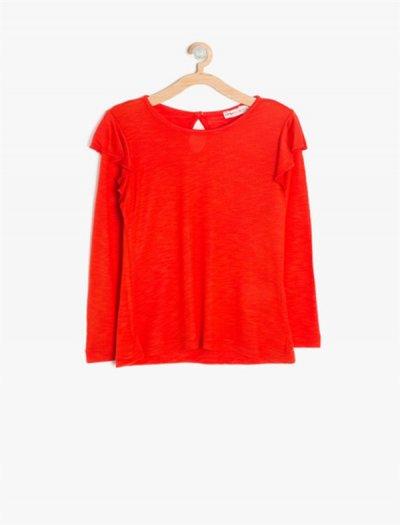 8kkg17041ok Koton Kırmızı Tişört