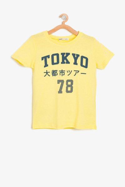 8ykb18678ok Koton Sarı Çocuk T-shırt