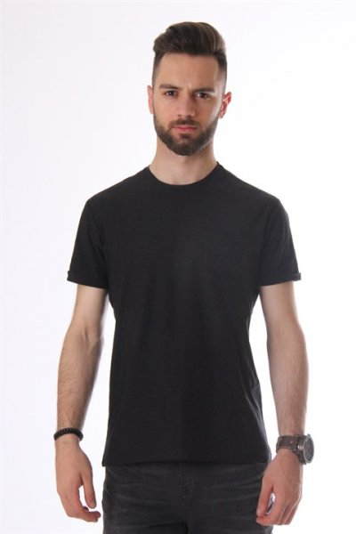 Koton Bisiklet Yaka T-shirt Siyah 8yam12059lk