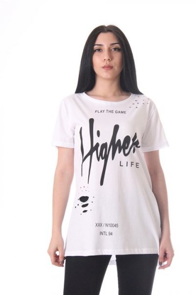 Higher Baskılı T-shirt - 2928