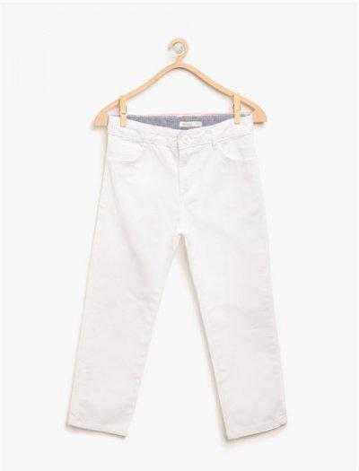 8ybb46219ow Koton Çocuk Pantolon Beyaz