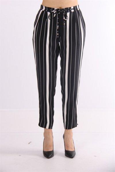 Ayhan Bel Bağlamalı Çizgili Pantolon 7700