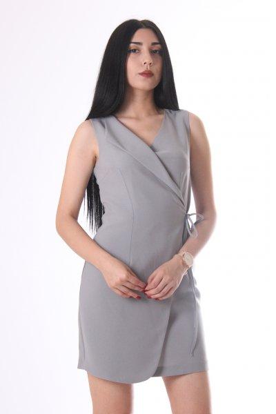 Ayhan Belden Bağlamalı Elbise 60535