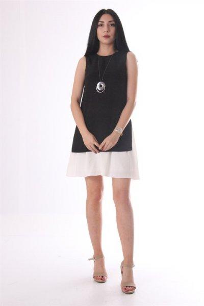Ayhan Etek Detaylı Elbise 60983
