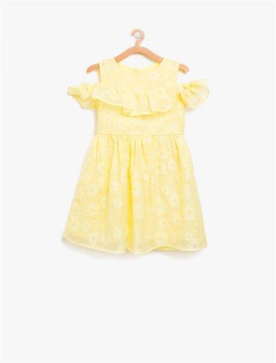 8ykg87227ow Koton Çocuk Elbise Sarı