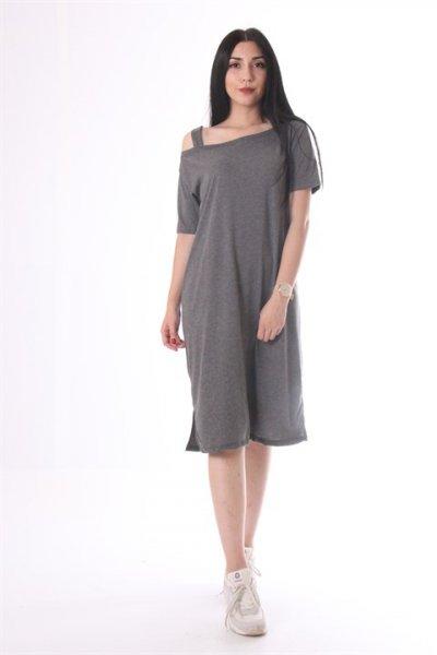 Omuz Detaylı Elbise 5605
