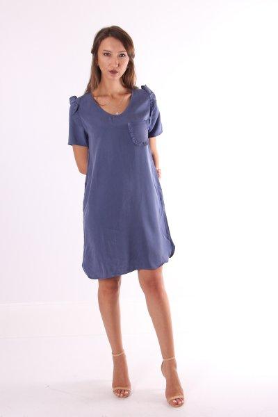 Fırfır Detaylı Elbise 21663