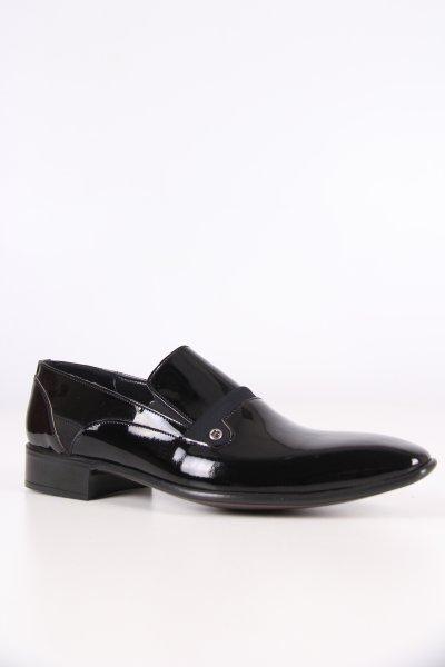 P63141g Pierre Cardin Siyah Rugan Su Yolu Ayakkabı