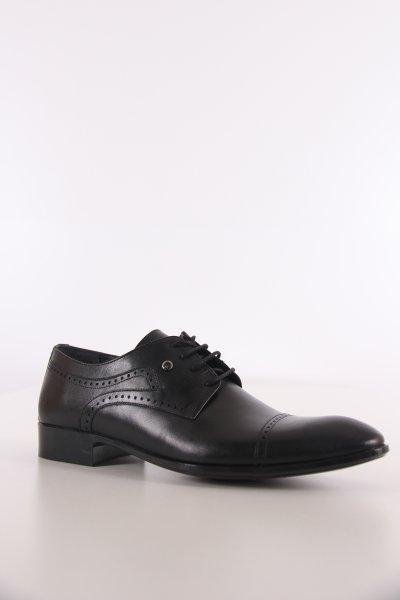 P63122b Pıerre Cardın Siyah Antik Ayakkabı
