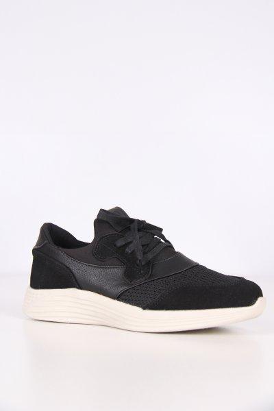 P9512h Pıerre Cardın Siyah Keten Ayakkabı