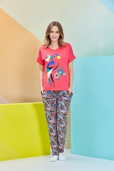 Rolypoly Kısa Kollu Kadın Pijama Takımı 3261-v1