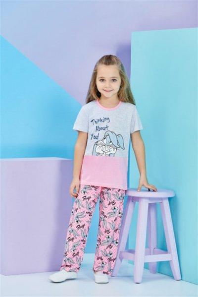Rolypoly Bugs Bunny Kız Çocuk Pijama Takımı L9610-v2