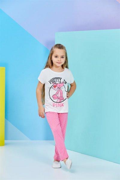 Rolypoly Pembe Panther Kız Çocuk Pilama Takımı L9521-v2