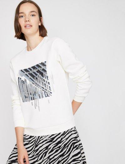 Koton Pul Detaylı Sweatshirt 0kak13700ek