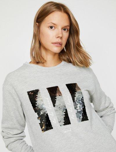 Koton Pul Detaylı Sweatshirt 0kak13693ek
