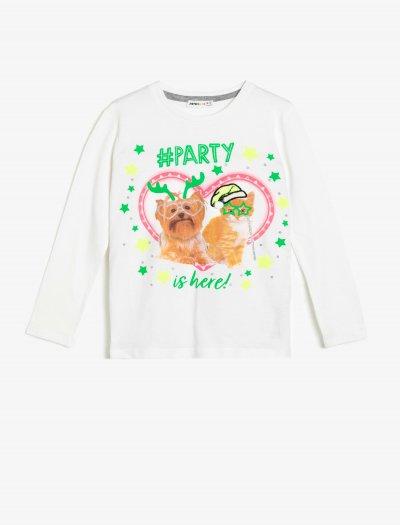 Koton Yazılı Baskılı T-shirt 0kkg17049ak